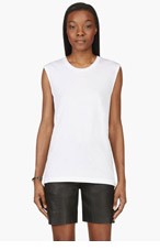 BLK DNM White Classic Tank Top for women