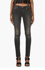 BLK DNM Black Faded Skinny Jeans for women