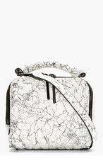 3.1 PHILLIP LIM White Crackled Leather Small Ryder Shoulder Bag for women