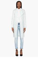MAISON MARTIN MARGIELA Mint Translucent Trench coat for women
