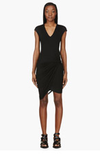 HELMUT LANG Black Jersey Twisted Knot Dress for women
