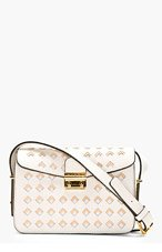 MARNI White Leather Cut-Out Shoulder Bag for women