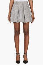 KENZO Black & White Voluminized Tweed Skirt for women