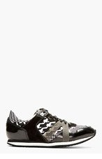 MCQ ALEXANDER MCQUEEN Black Patent Leather & Textile Sneakers for women