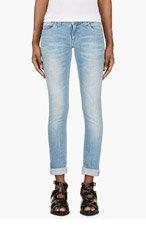 NUDIE JEANS Light Blue Tight Long John Jeans for women