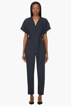KENZO Grey Short Sleeve Jump Suits for women