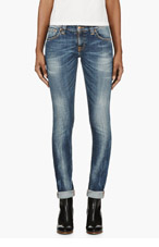 NUDIE JEANS Blue Tight Long John Jeans for women