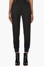 MM6 MAISON MARTIN MARGIELA Black & Navy Hybrid Lounge Pants for women