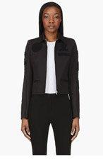 MAISON MARTIN MARGIELA Black Textured Appliqué Jacket for women