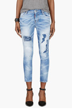 DSQUARED2 Blue Distressed Cool Girl Rammended Jeans for women