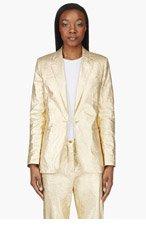ACNE STUDIOS Gold Linen Ciel Blazer for women