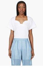 MAISON MARTIN MARGIELA White Décolleté Tshirt for women