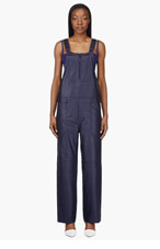 ACNE STUDIOS Indigo Leather Chagall Overalls for women