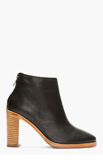 A.P.C. Black Leather Chic Boots for women