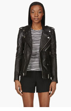 BLK DNM Black Leather Biker Jacket for women