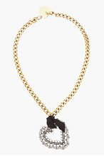 LANVIN Crystal Heart Pendant Necklace for women