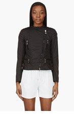 MONCLER Black Blet Puff Biker Jacket for women