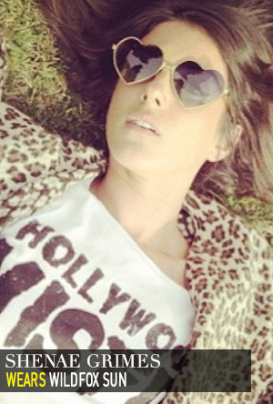Shenae Grimes in Wildfox Sun.