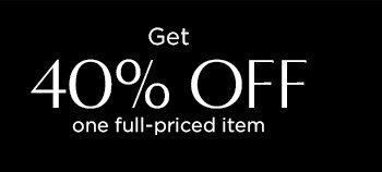Get 40% OFF one full–priced item