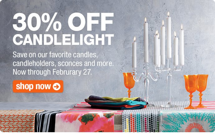 30% OFF CANDLELIGHT