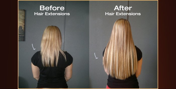 before hair extensionsafter hair extensions