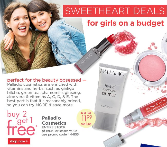 buy 2 get 1 free* Palladio Cosmetics ENTIRE STOCK
