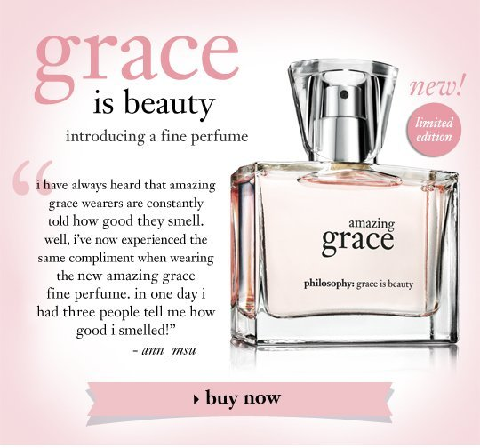 new! amazing grace fine perfume the purest, finest form of amazing grace fragrance for a woman's most beautifully feminine moments. a clean floral scent of welcoming bergamot to greet the senses, irresistibly soft, clean muguet blossoms and lasting musk with its classic beauty.
