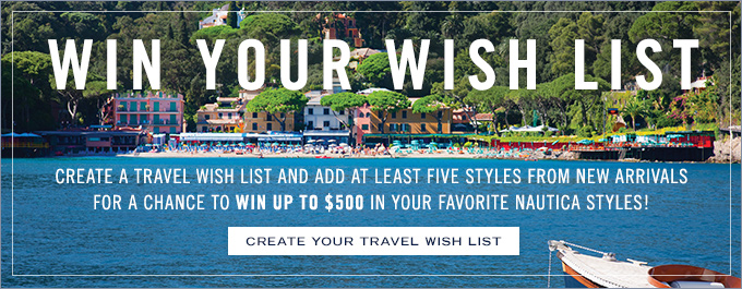 Win Your Wish List. Create Your Travel Wish List Now