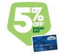 5% off* Every Day with Lowe's Consumer Credit