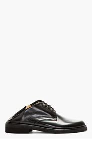 ANN DEMEULEMEESTER Black fold-down COLLECTION GRISE SHOES for men