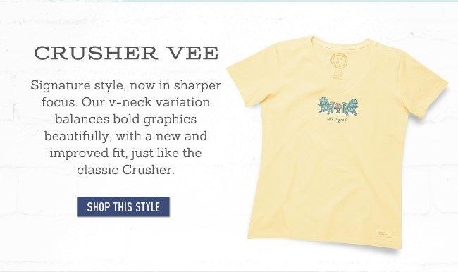 Women's Crusher Vee Neck Tee