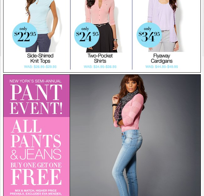 All Pants & Jeans B1G1 Free!
