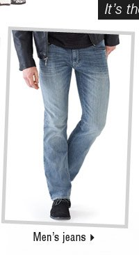 It's the perfect time to buy men's jeans.
