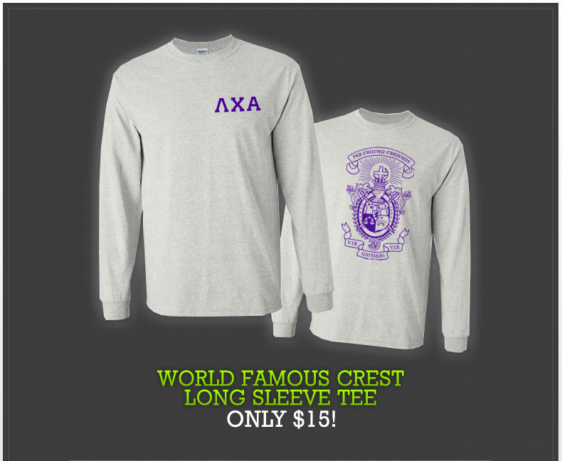 World Famous Crest Long Sleeve Tee - Only $15