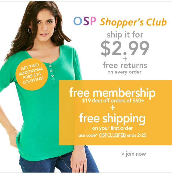 Join the OSP Shopper's Club