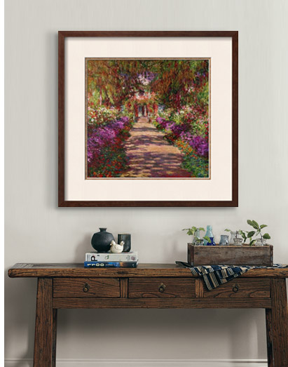 PATH IN MONET'S GARDEN, GIVERNY By: Claude Monet