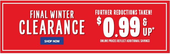 Final Winter Clearance!