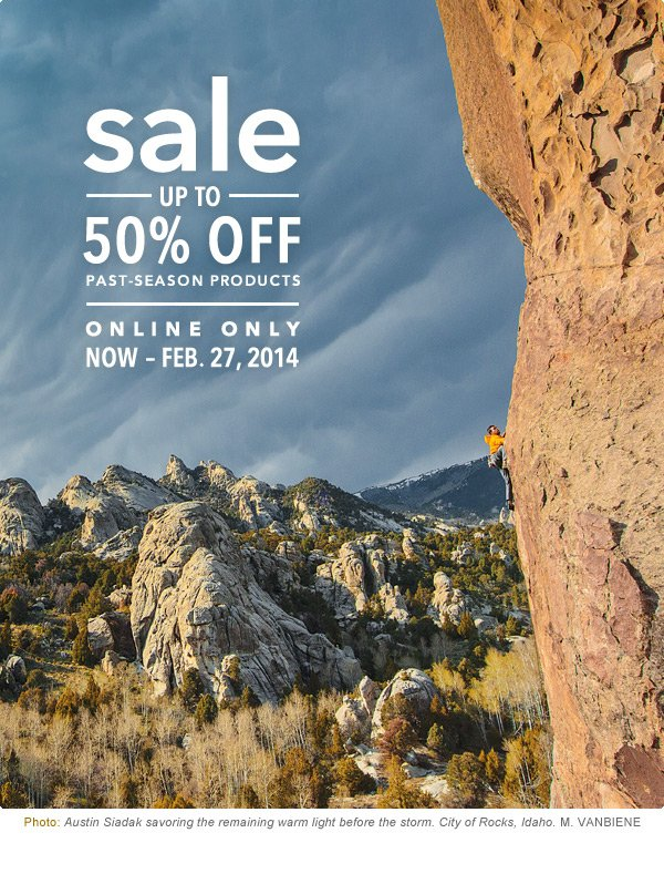 SALE - Up To 50% Off Past-Season Products