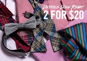 Shop 2 for $20: Details Done Right