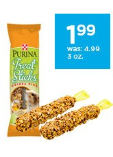 Purina Treat Sticks for guinea pigs only $1.99