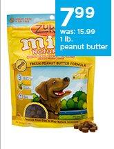 Zuke's Mini Naturals 1 lb. peanut butter only $7.99
