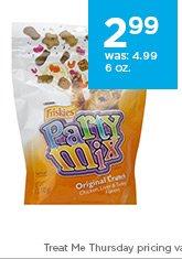 Friskies Party Mix Original Chews 6 oz. only $2.99