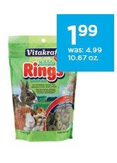 Vitakraft Nibble Rings 10.67 oz. only $1.99