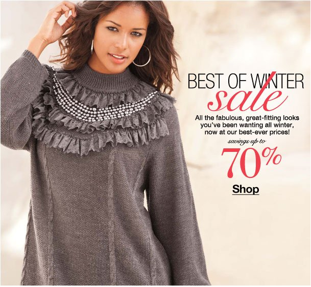 Best of Winter Sale! Savings up to 70%!