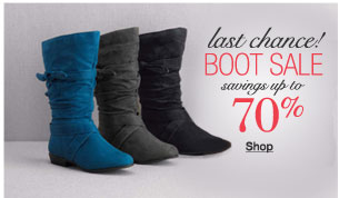 Last chance boot sale savings up to 70%