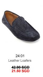 Leather Loafers 21.50 SGD