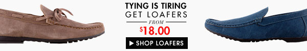 Loafers from $18.00