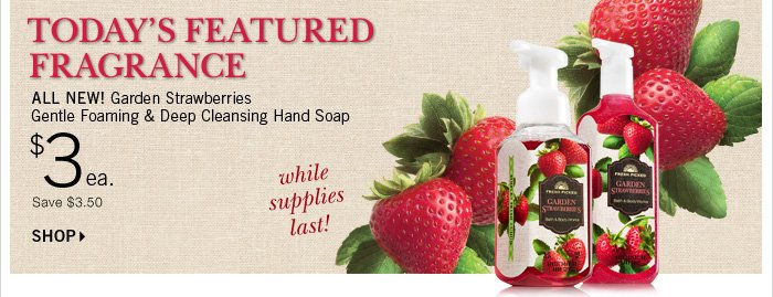 $3 Garden Strawberries Hand Soap