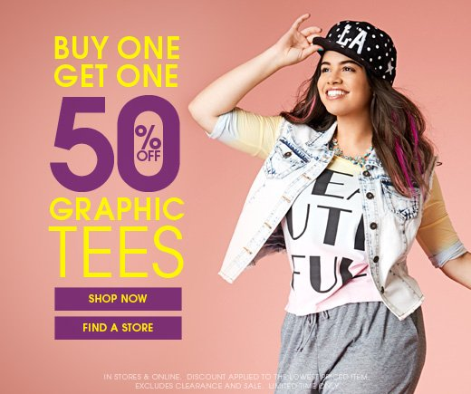Buy 1 Get 1 50% OFF Graphics Tees