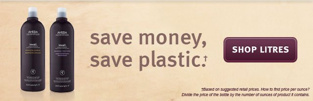 save money, save plastic. shop litres.